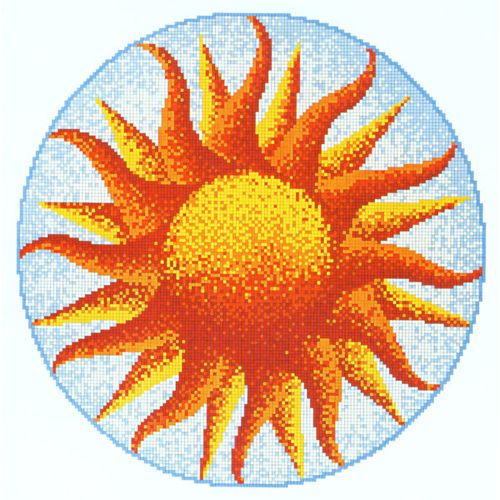 Sole sun glass swimming pool mural