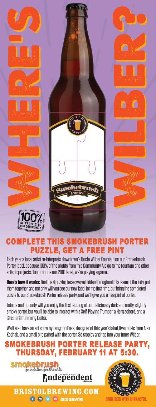 963 Smokebrush Porter ad Puzzle 4.71x12